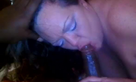 Slutty brunette in stockings has a camera rolling while she is getting her well deserved facial cumshot